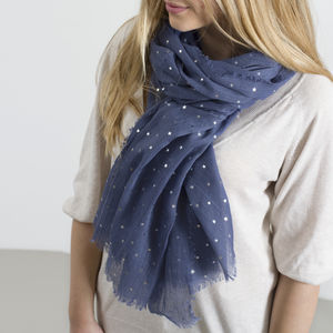 Personalised Supersoft Sparkle Star Scarf - scarves