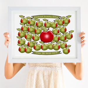 Teacher Thank You Gift Apple Print
