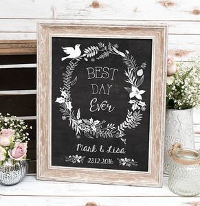 Best Day Ever Wedding Print