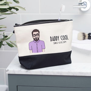 Personalised 'Daddy Cool' Cotton Canvas Washbag
