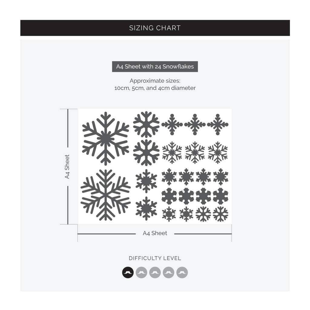 Small Set Of 24 White Snowflakes Vinyl Stickers By Sirface