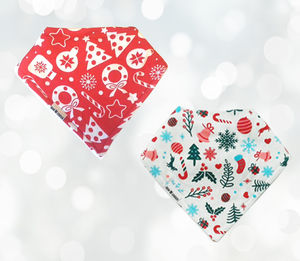 Traditional Christmas Baby Bib Gift Set