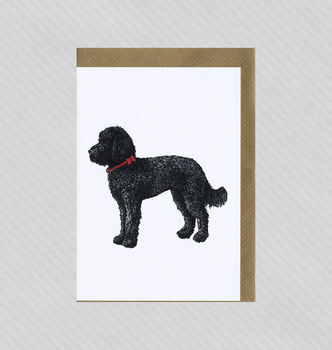 Illustrated Labradoodle Blank Card