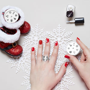 Xmas Loves Nails. Nail Art Stamp - nail care