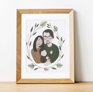Personalised Hand Painted Family Portrait