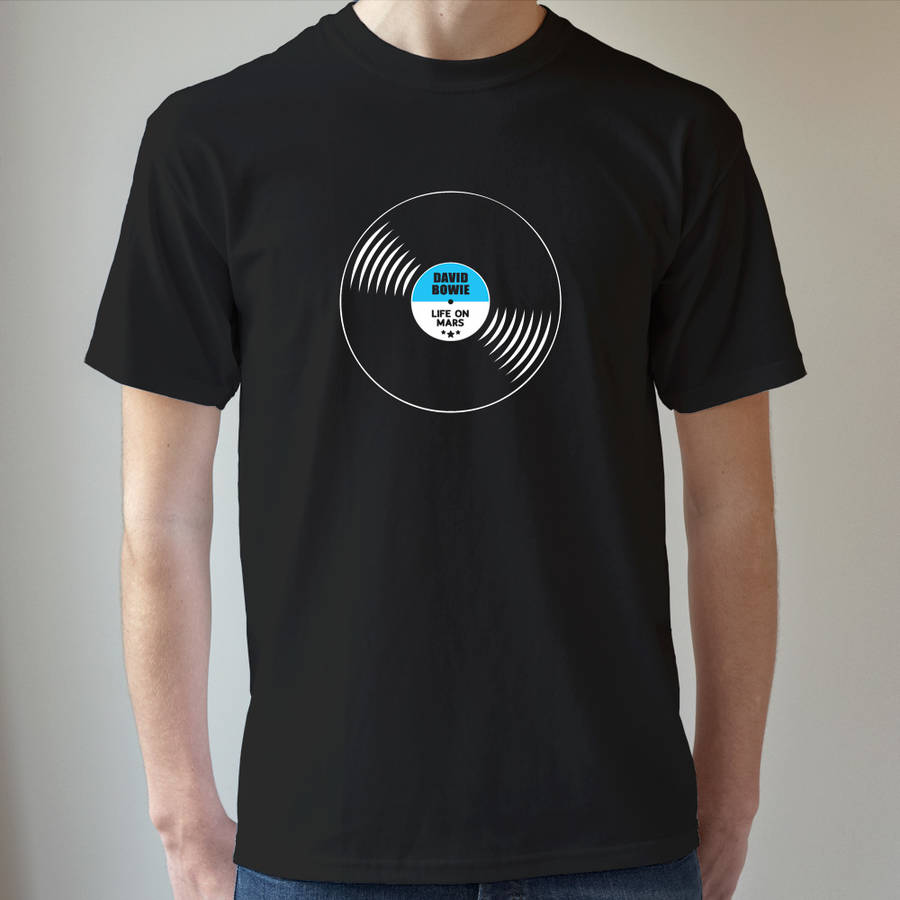 Personalised Mens T Shirt Vinyl Record By Frozen Fire