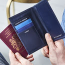 Personalised Section Leather Passport Cover