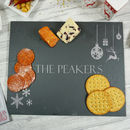 Personalised Christmas Slate Cheese Board