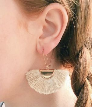 Tassel Fan Statement Earrings