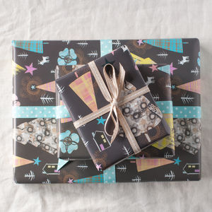 Night Forest Christmas Gift Wrap Set