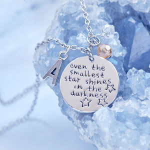 'Even The Smallest Star…' Initial Necklace - necklaces & pendants