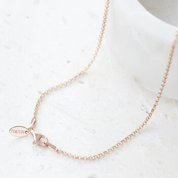Plain Belcher Chain Necklace 18ct Rose Gold Vermeil