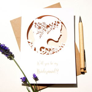 Boho Bridesmaids Card - be my bridesmaid?