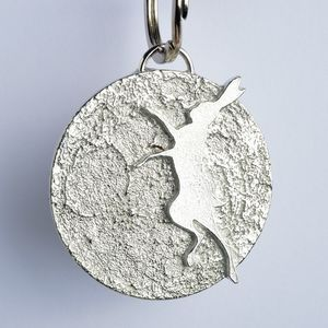 Boxing Hare And Moon Key Ring