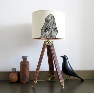 Gorilla Lampshade With Colour Inside Lining