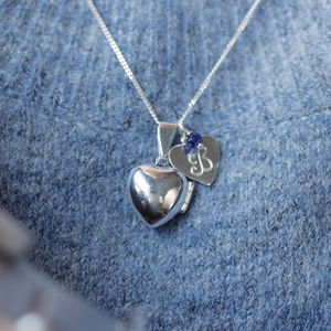 Heart Locket With Birthstone - gifts for grandmothers