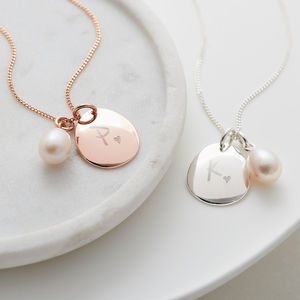 Personalised Pebble Initial Necklace - necklaces & pendants
