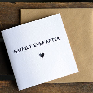 'Happily Ever After' Paper Cut Wedding Card