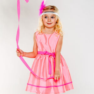 Charlotte Pink Taffeta Dress - winter sale