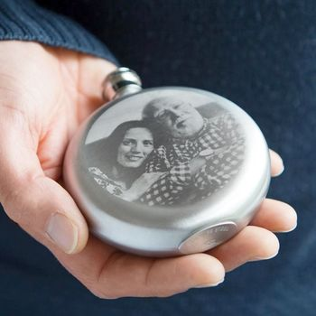 Personalised Etched Photo Hipflask