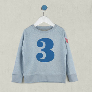 Age Three Sweatshirt Blue Or Pink - t-shirts & tops