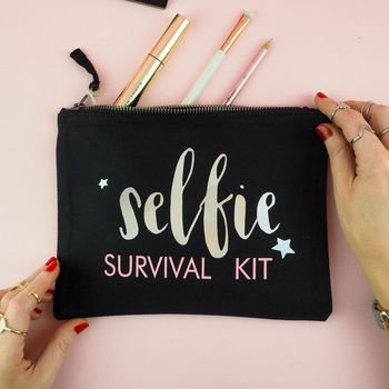 'Selfie Survival Kit' Make Up Bag