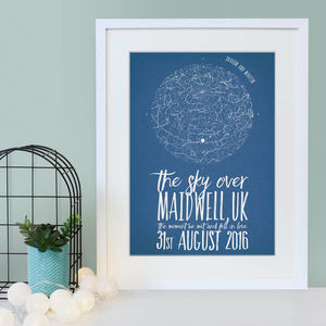 Personalised Star Map Print - maps & locations