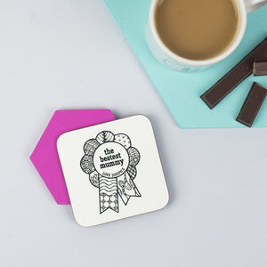 Personalised 'Bestest Mum' Mother's Day Coaster