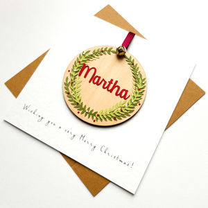 Personalised Pendant Christmas Card - cards