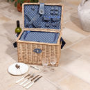 Luxury Personalised Romantic Blue Picnic Hamper