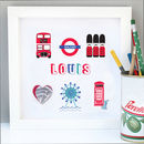Personalised London Boy Map Art