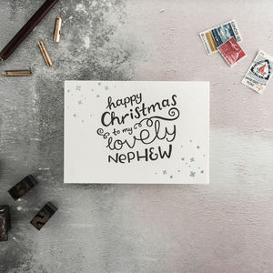 To My Nephew Letterpress Christmas Card - shop by category