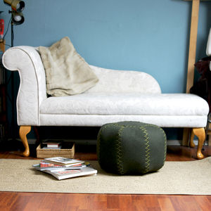 Hand Stitched Woollen Moroccan Inspired Pouffe - furniture