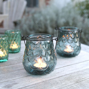 Cascade Hanging Glass Tealight Holder - candles & home fragrance