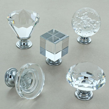 Crystal Cabinet Knobs Glass Kitchen Cupboard Knobs