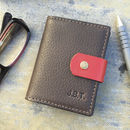 Card wallet by John Todd personalisation