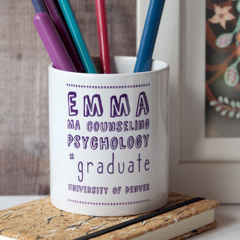 Hashtag Graduation Desk Tidy Gift
