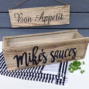 Personalised Sauce Or Cutlery Box For Table - kitchen