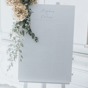 Bliss Table Plan - room decorations