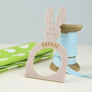 Personalised Easter Bunny Napkin Ring - napkin rings