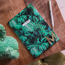 Tropical Design Copper Letter Notebook