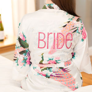 Liberty Personalised Bridal Wedding Robe