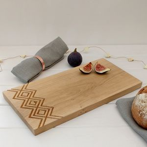 Scandi Style Engraved Oak Serving Board - kitchen accessories