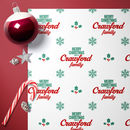 Personalised Holly Family Christmas Wrap