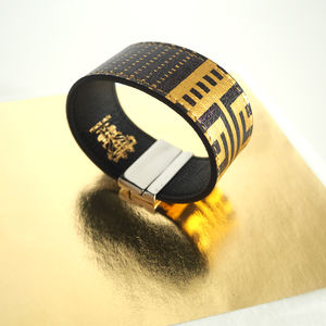 Gold Leather Bracelet With Contactless Payment Chip - bracelets & bangles