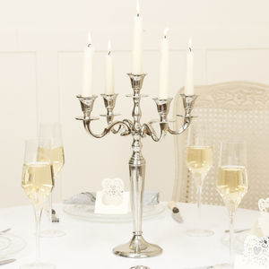 Classic Five Arm Candelabra And Snuffer Gift Set - christmas lighting