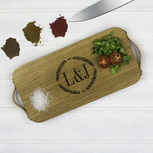 Personalised Laurel Leaf Monogrammed Chopping Board - shop by occasion