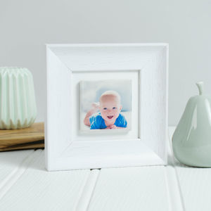 Personalised 'Family' Framed Photo Clay Tile Art - personalised