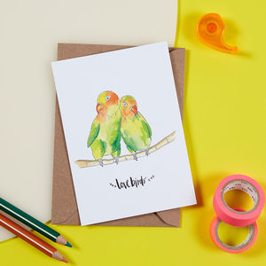 Lovebirds Card - love & romance cards