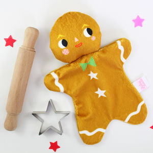 Gingerbread Man Mini Blankie - baby care